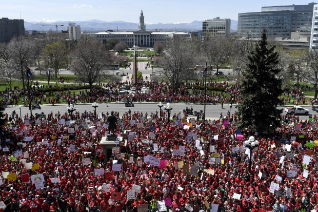 Thousands show up in red during ...
